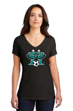 Highland Boys Soccer Women's Black Tri Blend V-Neck Tee (DM1350L)